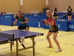 2018-09-(15-16) Lietuvos jaunučių stalo teniso žaidynių dvejetų varžybų 3 vietos laimėtojos iš kairės Gabrielė Strodomskytė ir Karolina Kuznecova